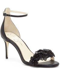 Jessica Simpson - Pouline Leather Sandals - Lyst