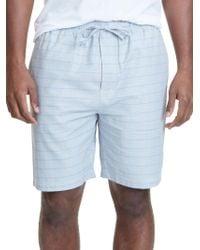 Nautica - Herringbone Print Cotton Pajama Shorts - Lyst