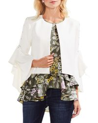 Vince Camuto - Lace-up Sleeve Jacket - Lyst