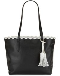Isaac Mizrahi New York - Scalloped Leather Tote - Lyst
