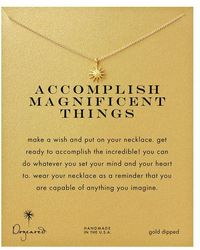 Dogeared 'accomplish Magnificent Things' Starburst Charm Necklace - Metallic