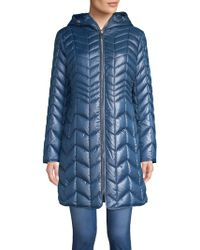 Kenneth Cole - Quilted Coat - Lyst