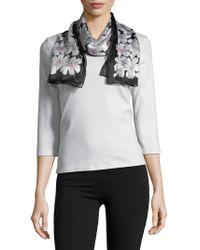 Lauren by Ralph Lauren - Floral Print Silk Scarf - Lyst