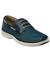 Florsheim - Lakeside Leather Oxford Boat Shoes - Lyst