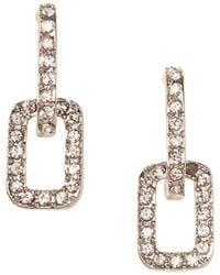 Vince Camuto - Crystal Link Drop Earrings - Lyst