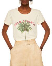 Mango - Organic Printed Cotton T-shirt - Lyst
