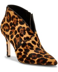 Jessica Simpson - Layra Leopard-print Calf Hair Booties - Lyst
