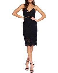Bardot - Sofia Embroidered Sleeveless Cotton Sheath Dress - Lyst