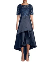 Adrianna Papell Sequin Lace Dress - Blue