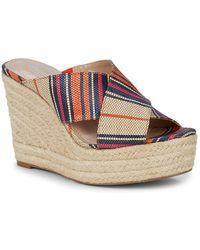 Charles David Leilani Multi-striped Wedge Sandals - Multicolour