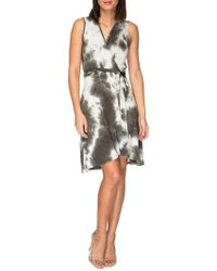 Bobeau - Rowan Tie-dye Wrap Dress - Lyst