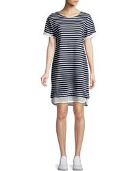 Marc New York - Striped Short Sleeve T-shirt Dress - Lyst