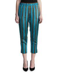 Day Birger et Mikkelsen - Striped Elastic-waist Trousers - Lyst