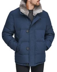 Andrew Marc - Bryant Rabbit Fur-collar Mid-length Down Parka - Lyst