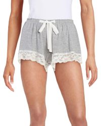 Flora Nikrooz - Lace Trim Shorts - Lyst