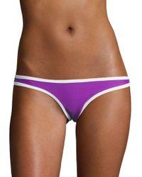 Lord & Taylor - Low-cut Reversible Bikini Swim Bottoms - Lyst