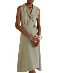 Mango Bow Sleeveless Shirtdress - Green