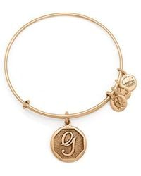 ALEX AND ANI - Initial G Charm Bangle - Lyst
