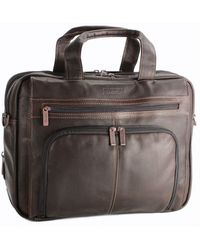 Kenneth Cole Reaction - Colombian Leather Expandable 15.4in Computer Portfolio - Lyst