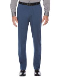 Perry Ellis - Heathered Twill Dress Trousers - Lyst
