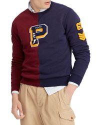 7dd6ce26a050 Lyst - Polo Ralph Lauren Crewneck Cotton Sweatshirt in White for Men