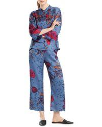 N Natori - Impressions Two-piece Floral Satin Pyjama Set - Lyst