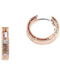 Roberto Coin - 18k Rose Gold & Diamond Princess Earrings - Lyst