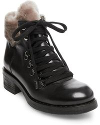 07e7bfa5278 Steven by Steve Madden - Paloma Leather And Faux Fur Boots - Lyst