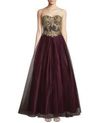 Blondie Nites - Embroidered Ball Gown - Lyst