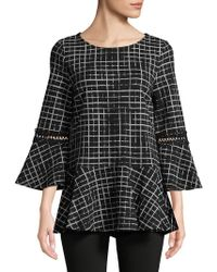 Isaac Mizrahi New York - Bell-sleeve Peplum Top - Lyst