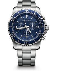 Victorinox Maverick Chrono Stainless Steel Watch - Blue