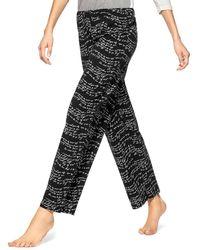 Hue Plus Wavy Script Trousers - Black