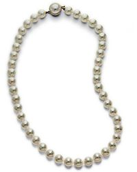 Majorica - Organic Man-made Pearl Necklace - Lyst