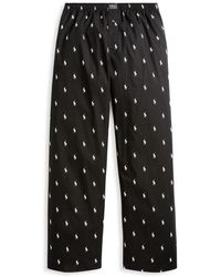 Polo Ralph Lauren Big & Tall Woven Polo Player Pyjama Trousers - Black