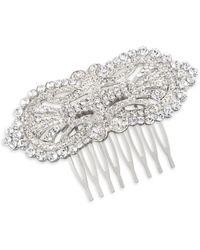 Nina - Lucerne Crystal Hair Comb - Lyst