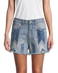 Lucky Brand - Distressed Cotton Shorts - Lyst
