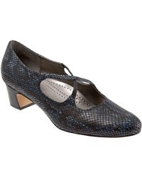 Trotters - Jamie Snake-print Leather Court Shoes - Lyst