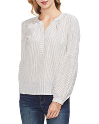 Vince Camuto - Estate Jewels Striped Cotton Blouse - Lyst