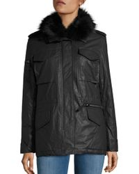 Sam. - 2-in-1 Kate Coated Parka & Fox Fur Vest - Lyst