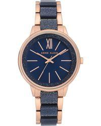 Anne Klein Two-tone Bracelet Watch - Blue