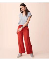 Lou & Grey - Fluid Wide Leg Drawstring Pants - Lyst