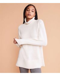 Lou & Grey Rollneck Tunic Sweater - White