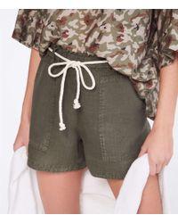 Lou & Grey Linen Rope Tie Shorts - Multicolor