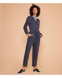 Lou & Grey - Pinstripe Fluid Jumpsuit - Lyst
