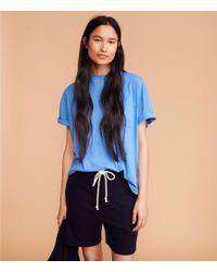 Lou & Grey Signaturesoft Super Plush Shorts - Blue