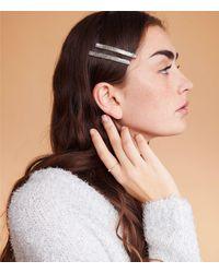 Lou & Grey Casa Clara Slim Hair Clip Set - Metallic