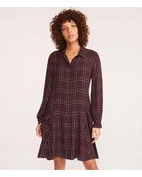 Lou & Grey Plaid Cozy Pocket Shirtdress - Multicolor