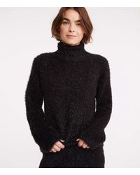 Lou & Grey Frosty Turtleneck Sweater - Black