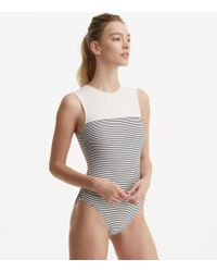 Lou & Grey Solid & Striped Sharon Striped Swimsuit - Blue