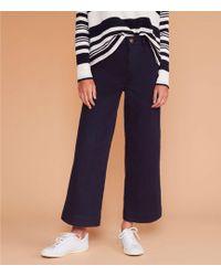 Lou & Grey High Rise Wide Leg Pants - Blue